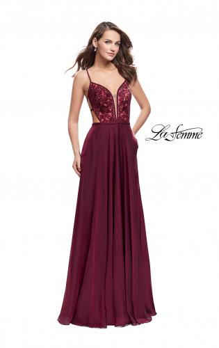 Picture of: A-Line Dress with Embroidered Lace Top and Pockets, Style: 26243, Detail Picture 2