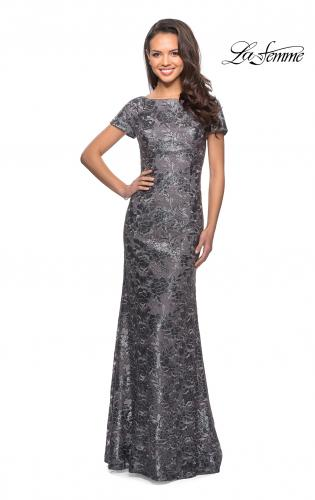e452ff2578 ... Picture of  Floor Length Short Sleeve Lace Dress