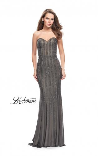Picture of: Long Strapless Prom Gown with Beading and Low Back, Style: 26289, Main Picture