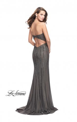 Picture of: Long Strapless Prom Gown with Beading and Low Back, Style: 26289, Back Picture