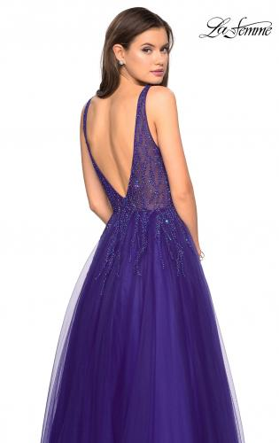 21a6cebff2 ... Style Picture of  A-Line Prom Dress with Rhinestones and Deep V Back