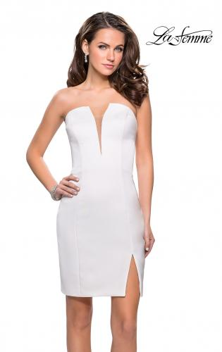 Picture of: Simple Satin Sweetheart Homecoming Dress, Style: 26629, Detail Picture 2