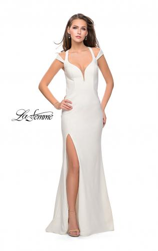 Picture of: Jersey Prom Dress with Off the Shoulder Straps, Style: 25761, Detail Picture 2