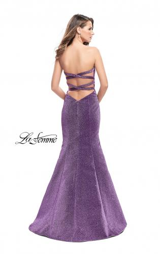 Picture of: Form Fitting Mermaid Prom Dress with Open Back, Style: 25811, Back Picture