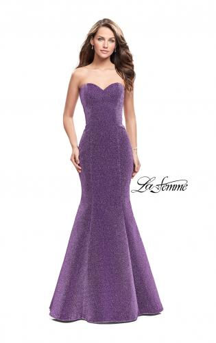 Picture of: Form Fitting Mermaid Prom Dress with Open Back, Style: 25811, Detail Picture 1