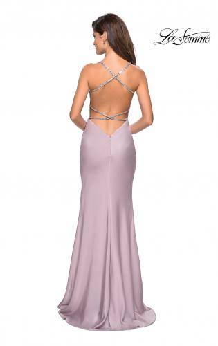 2db97825a16 ... Picture of  Classic Form Fitting Jersey Floor Length Prom Dress