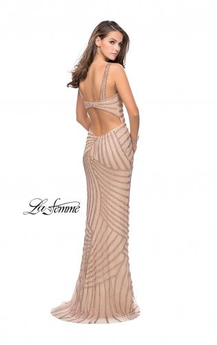 Picture of: Metallic Beaded Prom Dress with Sweetheart Neckline, Style: 25873, Back Picture