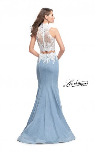 Picture of: Two Piece Long Prom Dress with Beads and Lace, Style: 25805, Back Picture