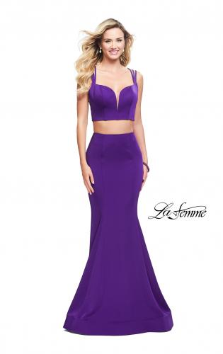 Picture of: Two Piece Jersey Prom Dress with Strappy Back, Style: 25553, Detail Picture 2