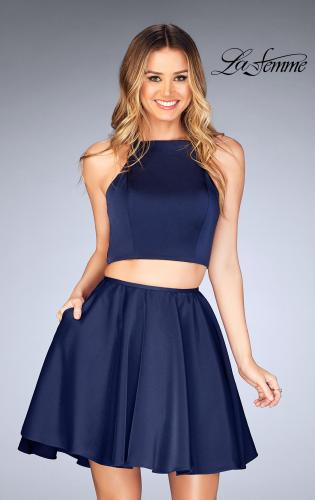 Picture of: Short Two Piece Homecoming Dress with Lace Up Back, Style: 25114, Detail Picture 1