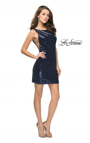 Picture of: Sequin Short Mini Dress with Low Scoop Back, Style: 26614, Detail Picture 1
