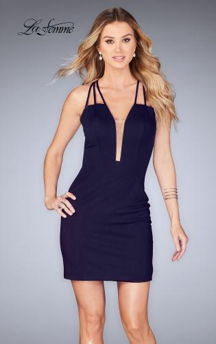 Picture of: Short Tight Homecoming Dress with Thin Straps, Style: 25139, Detail Picture 2