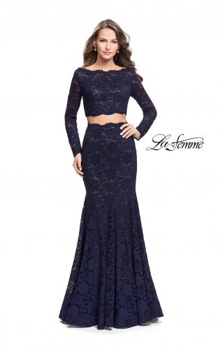 Picture of: Mermaid Style Lace Two Piece Dress with Scalloped Trim, Style: 25668, Main Picture