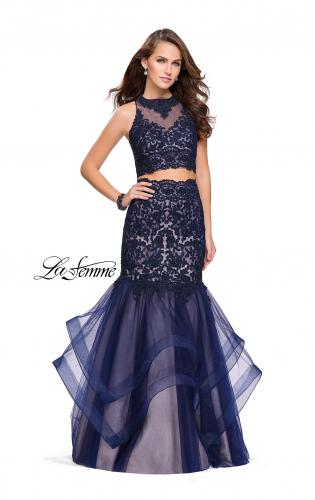Picture of: Two Piece Lace Prom Dress with Tulle Skirt, Style: 26071, Main Picture