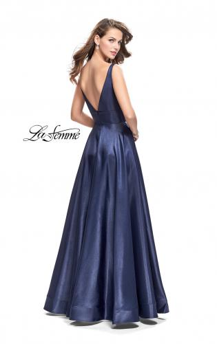Picture of: A-Line Ball Gown with V Open Back and Pockets, Style: 26015, Back Picture