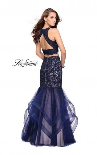 Picture of: Two Piece Lace Prom Dress with Tulle Skirt, Style: 26071, Back Picture