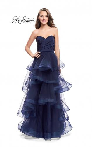 Picture of: Long Tulle Gown with Sweetheart Neckline, Style: 25430, Detail Picture 2