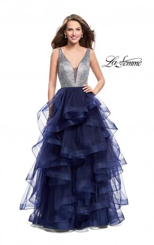 Picture of: Beaded Bodice Ball Gown with Tulle Skirt, Style: 26223, Detail Picture 2