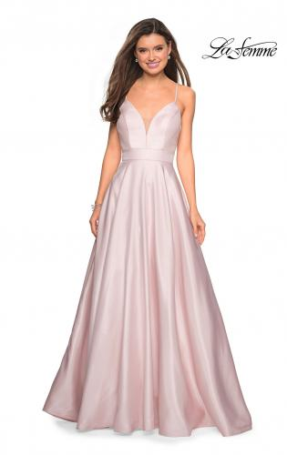 7669f1523af Picture of  Simple A-Line Long Prom Dress with Pockets