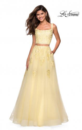 362005f544a Picture of  Two Piece Floor Length Prom Dress with Lace Detail