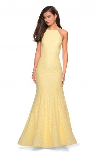Picture of: Long Lace Prom Dress with High Neckline, Style: 27289, Detail Picture 1
