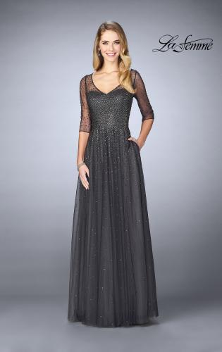 Picture of: Tulle A-line Evening Dress with Beading, Style: 24894, Detail Picture 1