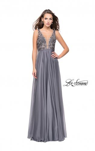 Picture of: A-line Prom Gown with Chiffon Skirt and Lace, Style: 26061, Detail Picture 2