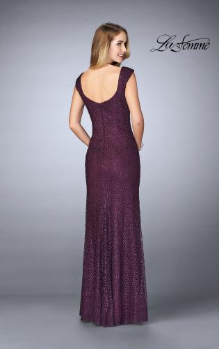 Picture of: Lace Evening Gown with Thick Straps and Beading, Style: 24891, Back Picture