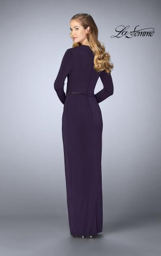 Picture of: Tulip Hem Long Sleeve Evening Gown, Style: 24927, Back Picture