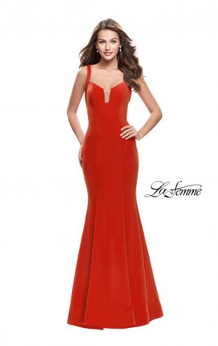 Picture of: Long Form Fitting Jersey Prom Dress with Open Back, Style: 25651, Main Picture