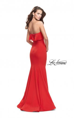 Picture of: Strapless Mermaid Prom Dress with Ruffles, Style: 25419, Back Picture