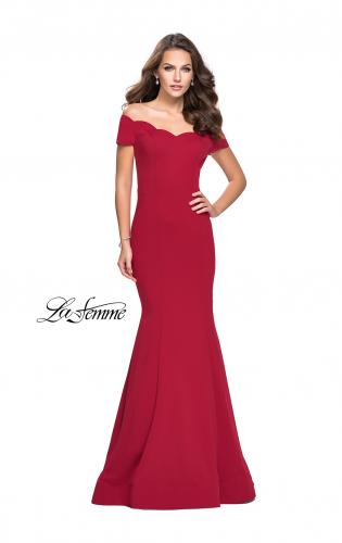 Picture of: Off the Shoulder Mermaid Style Dress with Scallop Neckline, Style: 25476, Main Picture