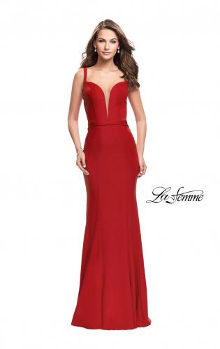 Picture of: Form Fitting Mermaid Prom Dress with Plunging Neckline, Style: 25964, Main Picture
