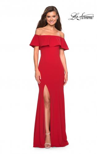Picture of: Long Off The Shoulder Prom Dress with Side Slit, Style: 27096, Main Picture