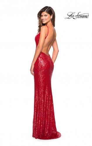 432f4bb1d04 Picture of  Sparkling Fully sequin Prom Gown with Exposed Back