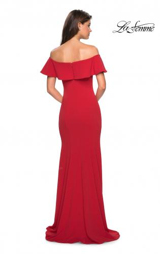 Picture of: Long Off The Shoulder Prom Dress with Side Slit, Style: 27096, Back Picture