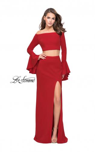Picture of: Off the Shoulder Two Piece Dress with Flared Sleeves, Style: 25261, Detail Picture 2