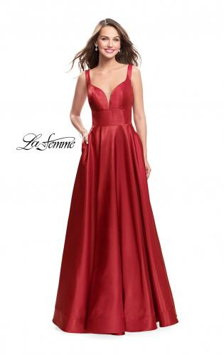 Picture of: A-Line Ball Gown with V Open Back and Pockets, Style: 26015, Detail Picture 2