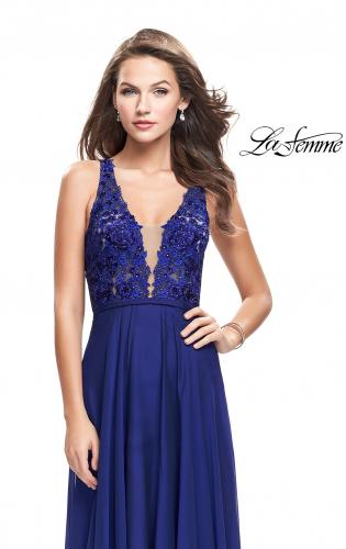 Picture of: A-line Prom Gown with Chiffon Skirt and Lace, Style: 26061, Main Picture