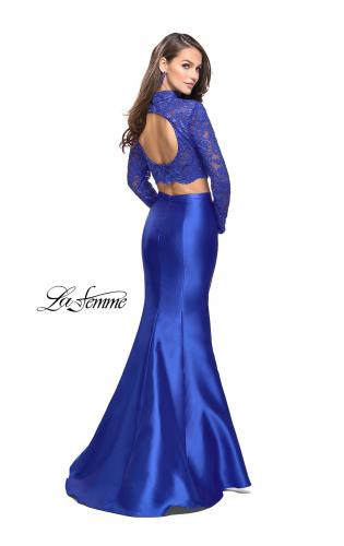 Picture of: Two Piece Mermaid Prom Dress with Lace Top, Style: 24901, Back Picture