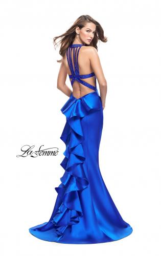 Picture of: Mikado Mermaid Dress with Embellished High Neckline, Style: 25838, Main Picture