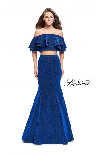 Picture of: Long Sparkling Off the Shoulder Jersey Prom Dress, Style: 26324, Main Picture