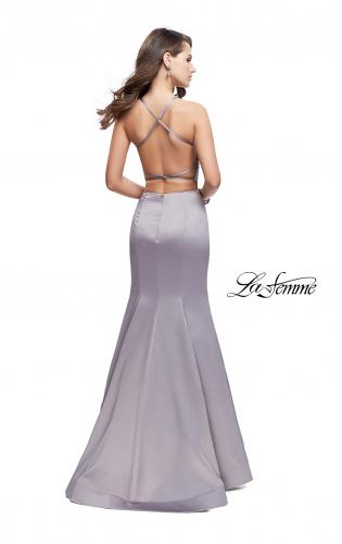 Picture of: Two Piece High Neck Prom Dress with Beading, Style: 26035, Back Picture