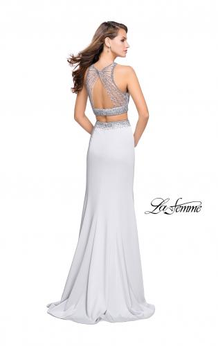 Picture of: Beaded Two Piece Prom Dress with Open Back, Style: 26063, Back Picture