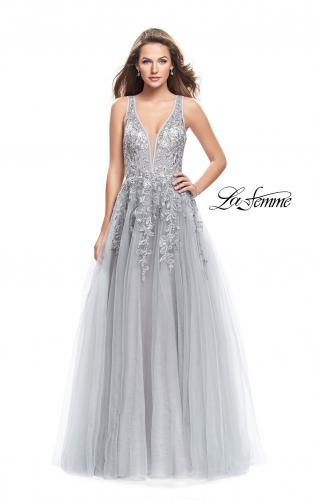 Picture of: A-line Tulle Prom Dress with Floral Lace Applique, Style: 26353, Detail Picture 1