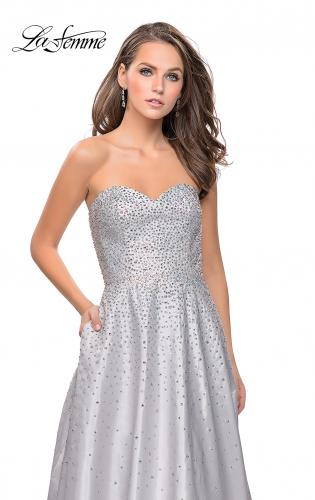 Picture of: Strapless Prom Gown with Sparkling Beading, Style: 26080, Detail Picture 2