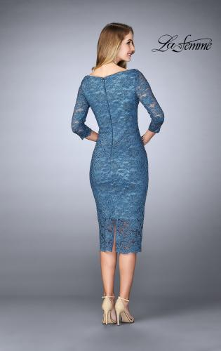 Picture of: Mid-Length Dress with Sleeves and Closed Back, Style: 24875, Back Picture