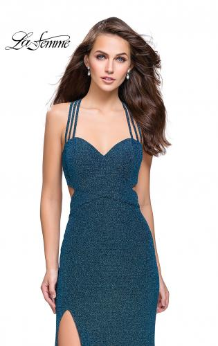 Picture of: Sparkly Jersey Dress with Side Cut Outs and Strappy Back, Style: 25258, Main Picture