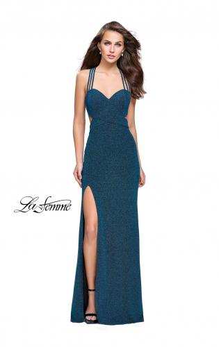 Picture of: Sparkly Jersey Dress with Side Cut Outs and Strappy Back, Style: 25258, Detail Picture 2