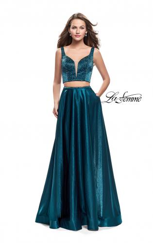 Picture of: Two Piece A-line Gown with Beading and Low Scoop Back, Style: 25939, Detail Picture 2